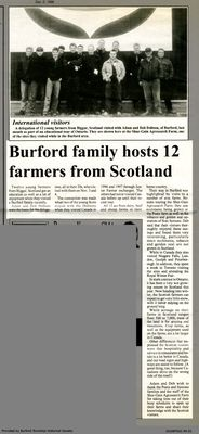 Burford family hosts 12 farmers from Scotland