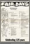 1985 Burford Fair List of Events