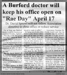 """A Burford doctor will keep his office open on """"Rae Day"""" April 17"""