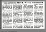 Times columnist Mary L. Wood is remembered