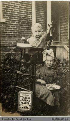 Birthday Postcard Sent to Hugh and Bessie McComb