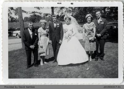 Wedding Photograph of Bert and Nancy McComb