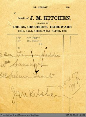 Receipt to George Foster and Sons from J.M. Kitchen