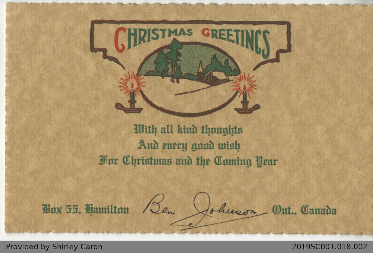 Letter to William Clarke from Ben Johnson