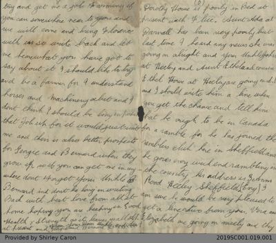 Letter to William Clarke from Bernard Mason