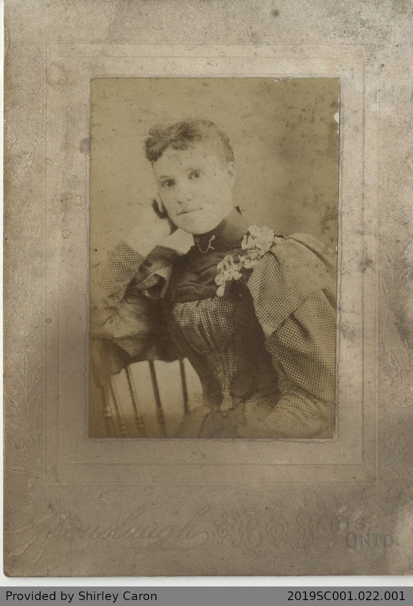 Framed Photograph of a Woman in a Studio, Paris