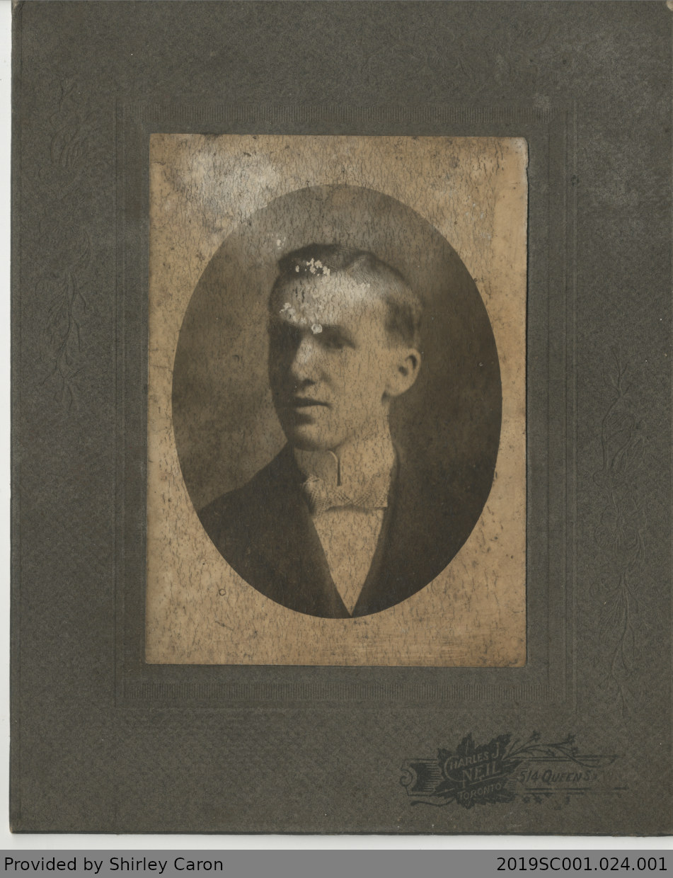 Framed Photograph of a Man, Head and Shoulders Studio Image