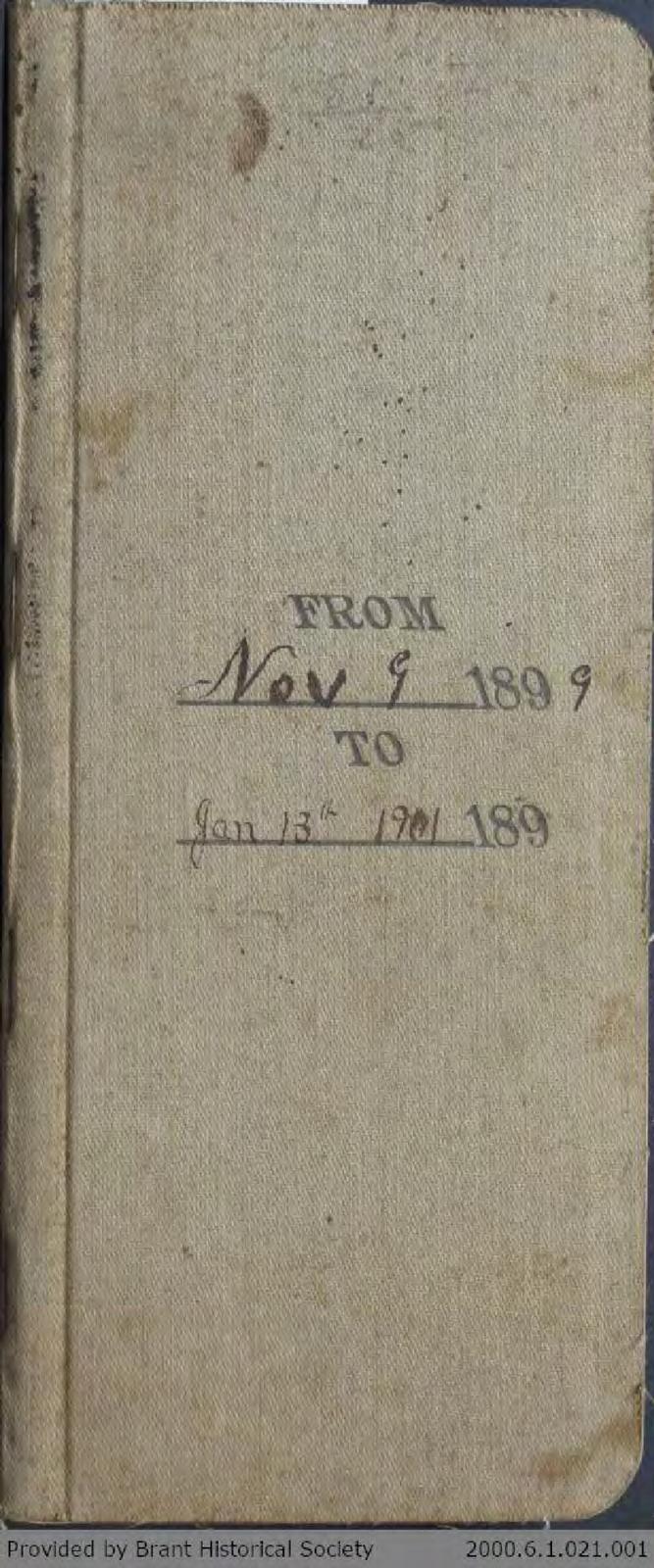 Chamberlain Ledger Book, 1899-1901