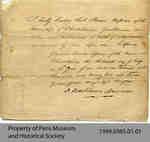 Statement of Hiram Capron's Oath of Allegiance
