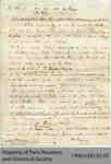 Draft Telegraph Announcing Mary De Long Capron's Death