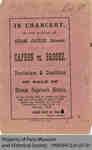 Auction Booklet for Sale of Hiram Capron's Estate