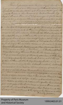 Land Indenture between Augustus Jones and Six Nations, 1805