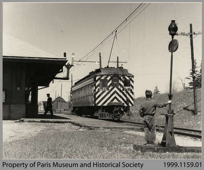 Passenger Car on Last Run of Lake Erie and Northern Railway, 1955