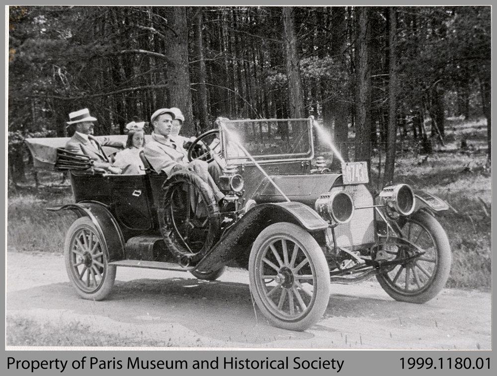 Dr. Daniel Dunton and Family in Car, 1911