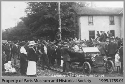 Send-Off of World War I Volunteers at William & Willow, Paris, 1914