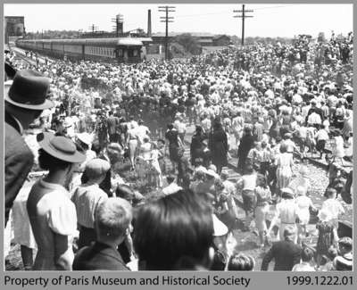 Royal Observation Car's Unexpected Stop, June 7, 1939