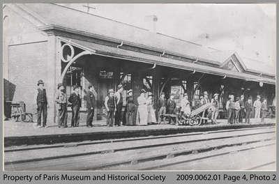 Passengers Waiting at Paris Junction Station, c. 1885