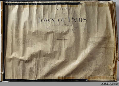 Map of the Town of Paris, 1932