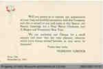 Penmans Christmas Bonus Announcement Card, 1919
