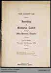 Program for the Unveiling of the John Penman Memorial Tablet, 1932