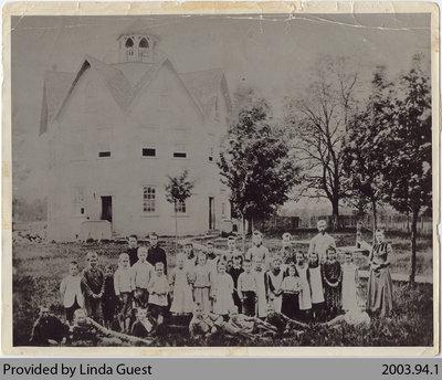 Nelles Academy Class Photograph, Mount Pleasant, c. 1893