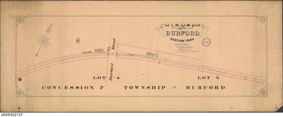 Plan of the Burford Station Yard, 1890