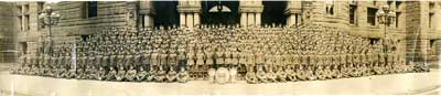 Panorama group photograph of Officers, NCO's and Men, 3rd Divisional Supply Column