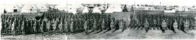 Panorama photo of 114th battalion at Camp Borden