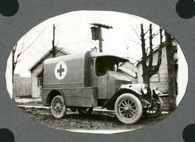 Photograph of army ambulance