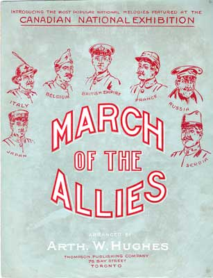 """Sheet music for song """"March of the allies"""""""