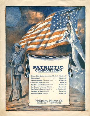 """Sheet music for song """"Patriotic Compositions - Call of the Bugle"""""""