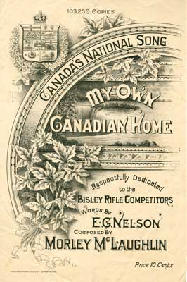 """Sheet music for song """"My own Canadian home"""""""