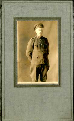 Photograph of a soldier in dress uniform