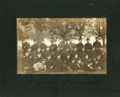 31st Haldimand Rifles, Niagara Camp June 14 to 23, 1904
