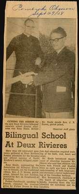 Separate School Open in Deux Rivieres