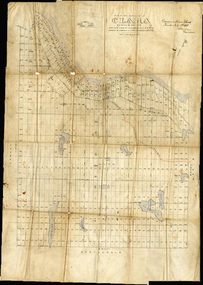 Plan of the township of Clara, Renfrew County  ca. 1888