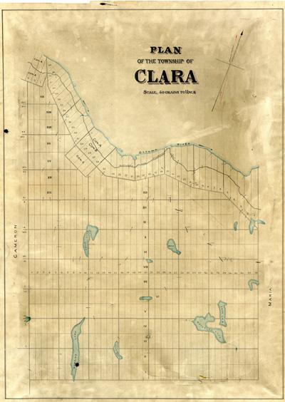 Map of Clara Township
