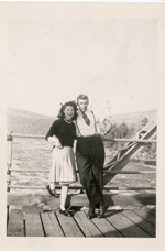 Couple Poses on The Bridge to Swisha