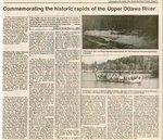 Commemorating the Historic Rapids of the Upper Ottawa River