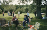 Two Ladies in Lawn chairs at the Seniors Picnic c.1985