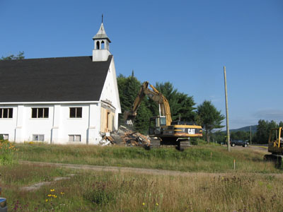 Demolition of Our Lady of the Snows Church