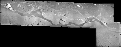 Aerial Photograph of the Upper Ottawa River in the Townships c. 1970