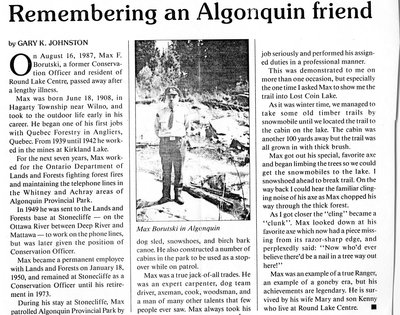 Remembering an Algonquin friend