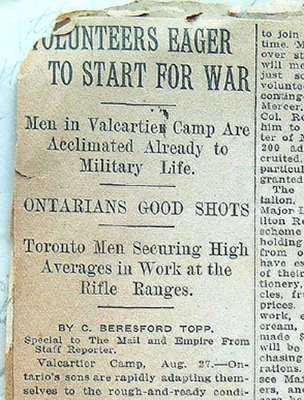 Volunteers Eager to Start for War