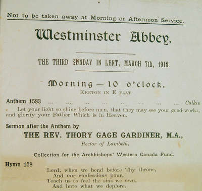 Pamphlet - Westminster Abbey