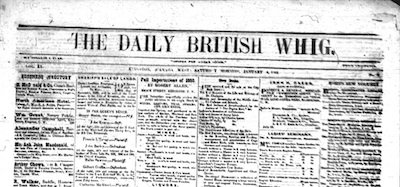 <i>Daily British Whig</i> 1850-1926