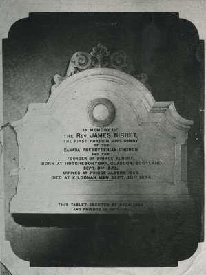 Reverend James Nisbet memorial.