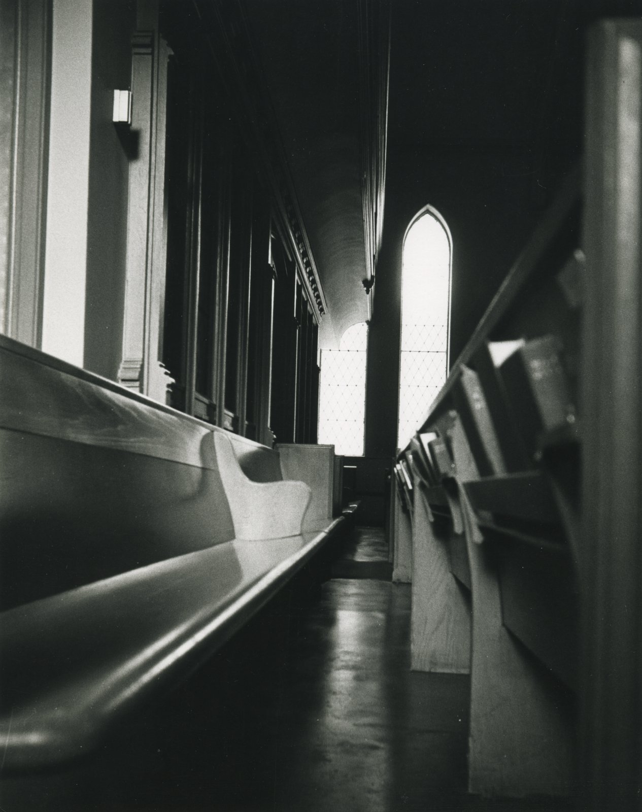 Knox Presbyterian Church, Oakville: pews 1973.