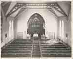 Knox Presbyterian Church, Oakville: interior, 1950.