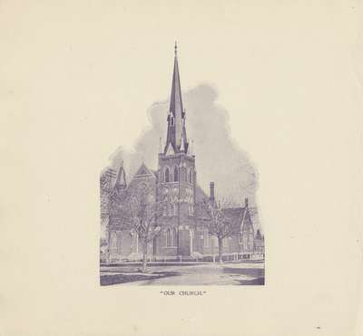 Knox Presbyterian Church, Oakville: engraving.